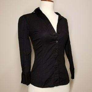 WETSEAL Bodycon button down dress shirt